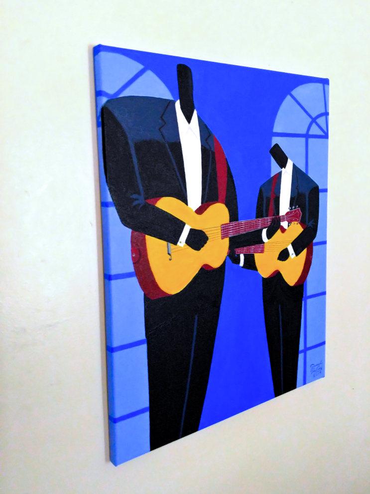 Les Guitaristes (Left View)